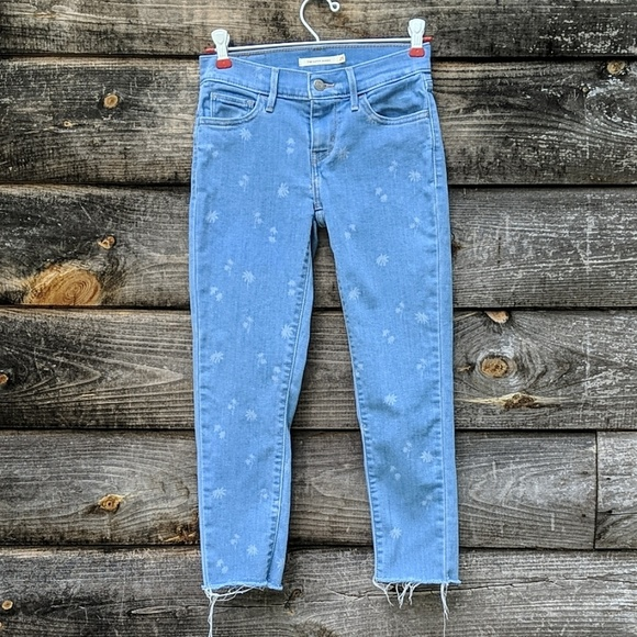 Levi's Denim - Levi's 710 Super Skinny Light Wash Raw Hem Jean